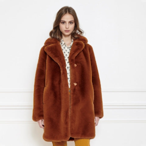 MKT Studio Faux Fur Masolin Coat