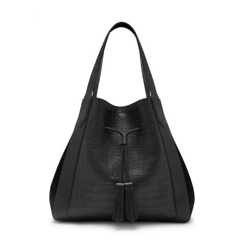 mulberry Millie tote black croc and suede Pumpz