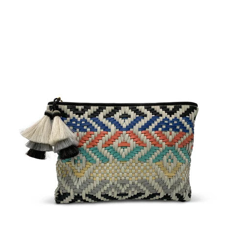 Kempton Multi Color woven pouch Pumpz