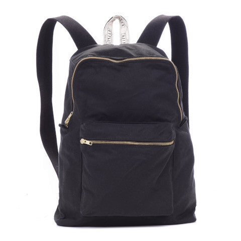 Utility Canvas Waxed Backpack in Navy Pumpz