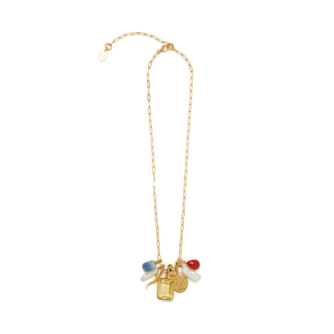 Lizzie Fortunato Citrine Charm Necklace