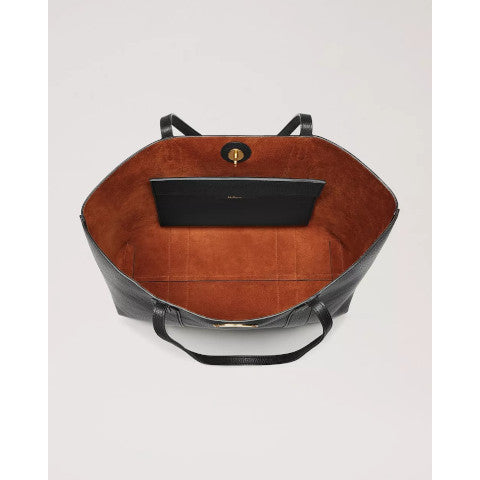 Mulberry Black Bayswater Tote Oak interior Pumpz