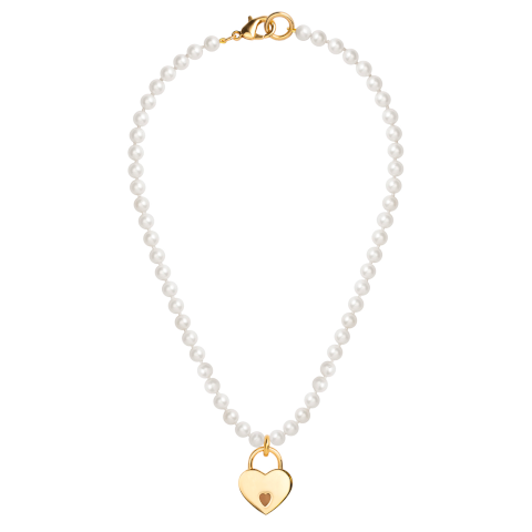 Janis Savitt Pearl and Gold locket necklace Pumpz