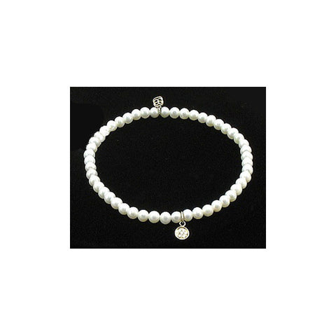 Sydney Evan Beaded Bracelet with Tiny Disc Charm