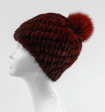 Mitchie's Matchings Mink Beanie in Wine