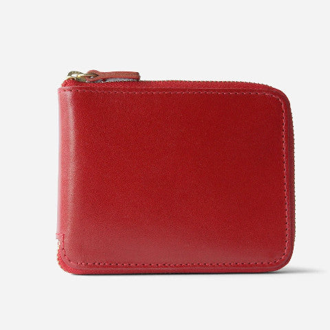 Minor History Wallet in Cherry leather Pumpz