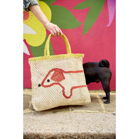 The Jacksons Sausage Dog Jute tote bag Pumpz