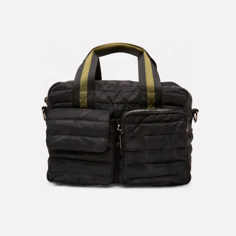 Think Royln Black Soho satchel Camo Pumpz