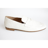 Angelo Bervicato white croc loafer Pumpz