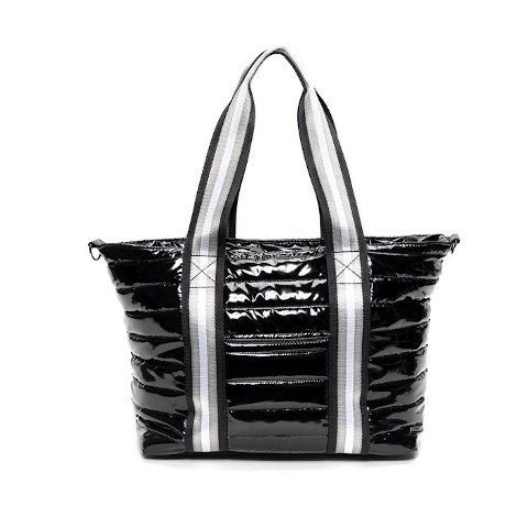 Think Royln Jr Wingman Black Patent tote