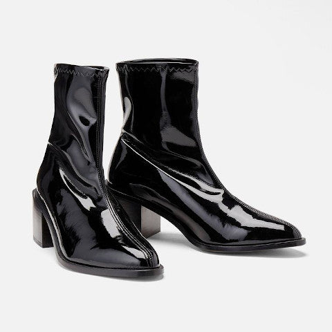 Robert Clergerie Xila black patent leather boot Pumpz