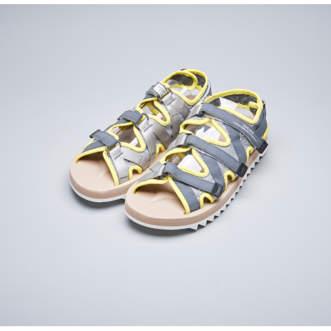 Suicoke Zip Velcro sandal grey yellow PUmpz