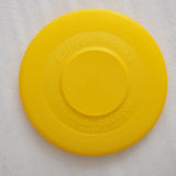 Kid's Soft Plastic Frisbee in White & Yellow