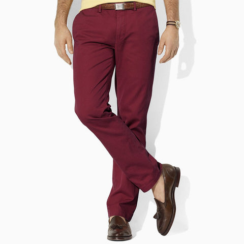 PREMIUM QUALITY 1951 SHINNY SLIM FIT BURGUNDY CHINO