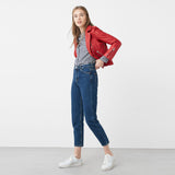 Mango's Original High Waist Dark Blue Denim Jeans
