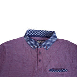 Men's original Light Purple Polka Collar Polo by Sandstone