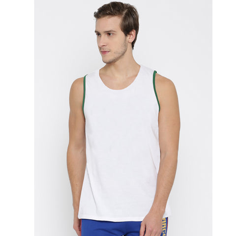 Men's Original Azzurri White Sleeveless Vest