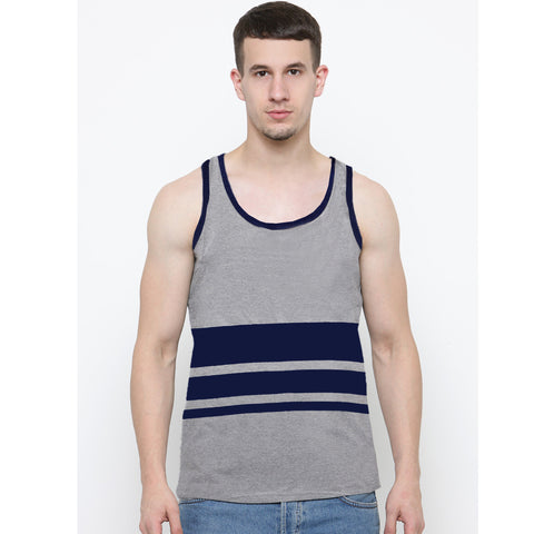 Men's Original Boohoo Gray Stripe Sleeveless Vest