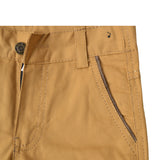 Kid's Brown Cotton Pent