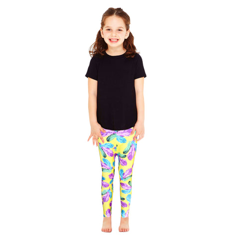 Kid's Multi-color leafs style PC Legging