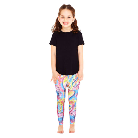 kid's Rainbow Dynamic Color Floral Legging