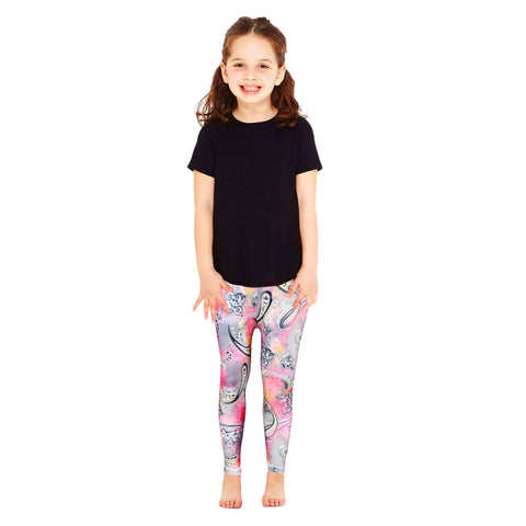 Kid's Pinkish Color with Multi-Floral Legging