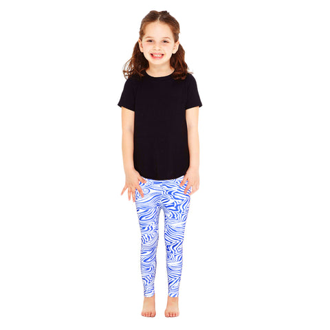 Kid's Dark Blue White Base Legging