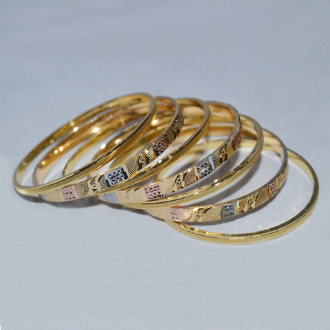 Set of 7 Golden attractive Bangles by All well