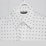 Next Kid Dress Shirt white Dots