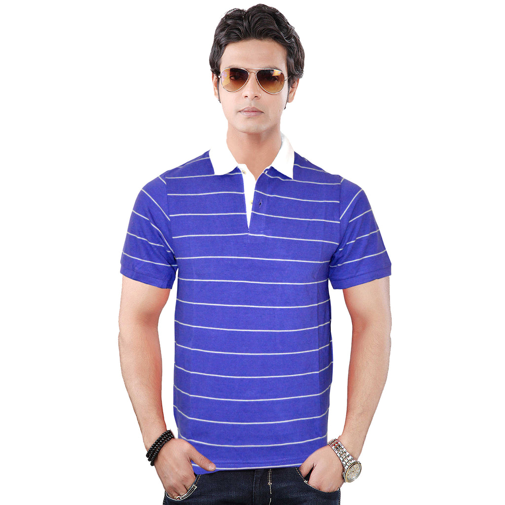 Men's Original Gorge Purple Stripe Polo Shirt