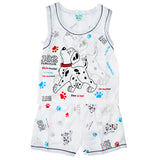 Kid's 102 Puppy Sleeveless Shirt & Shorts in White