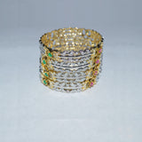 Ruby & Green stoned Golden Bangles