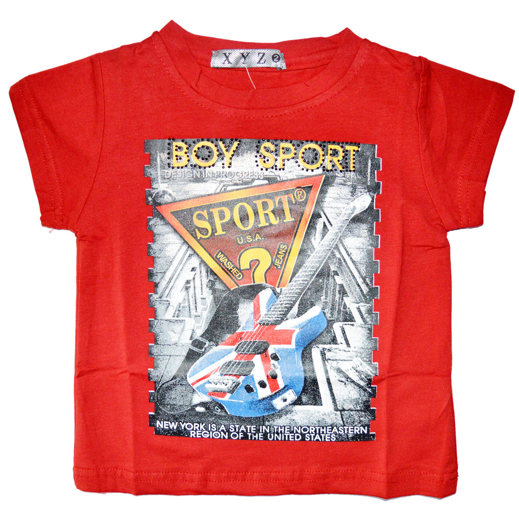 Kid's Boy Sport T-Shirt in Red
