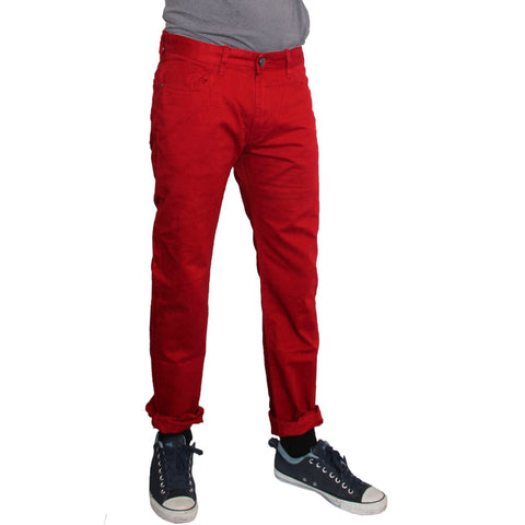 Men's Original MO Cotton Pents Slim Fit Red