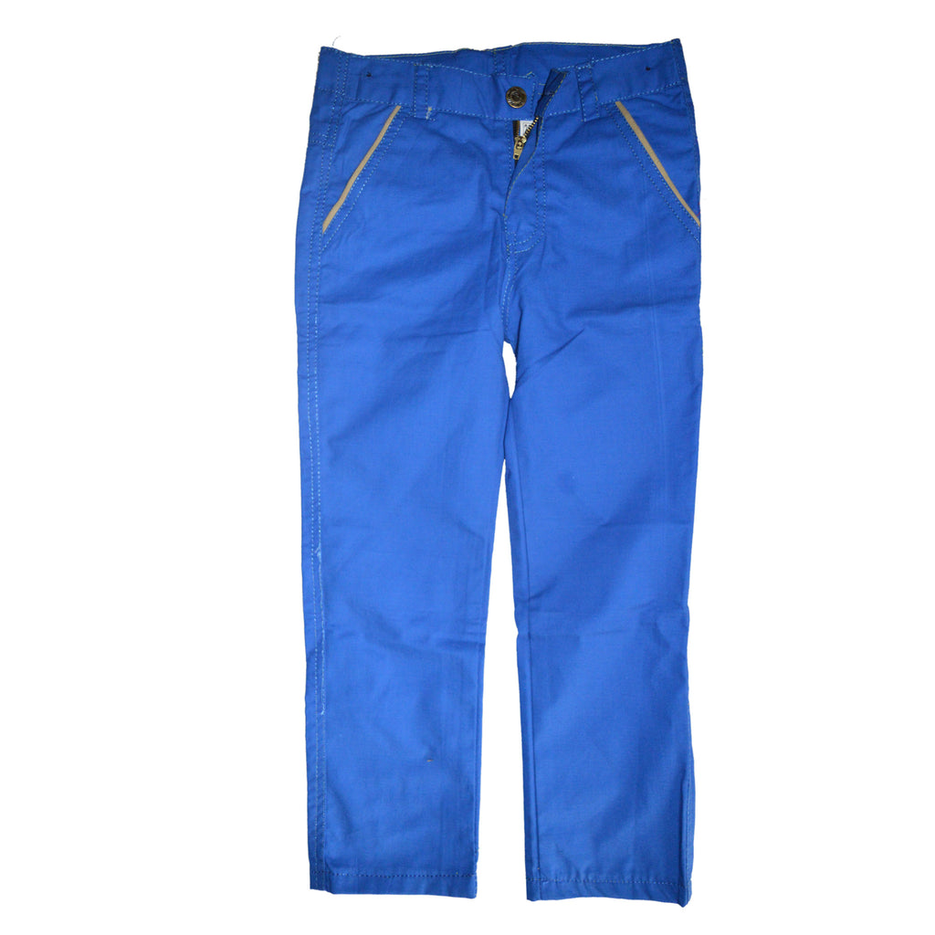Kid's Blue Cotton Pent