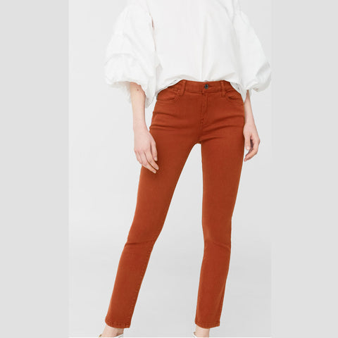 Ladies Original Mango Cotton Jeans Plan Mustard