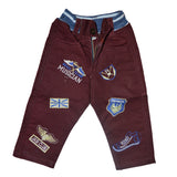 Kid's Maroon Cotton Pent