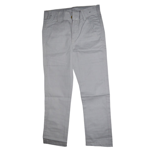 Kid's Light Grey Cotton Pent