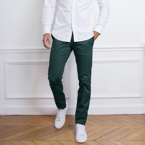 PREMIUM QUALITY 1951 SOBER SLIM FIT DARK GREEN CHINO C-21
