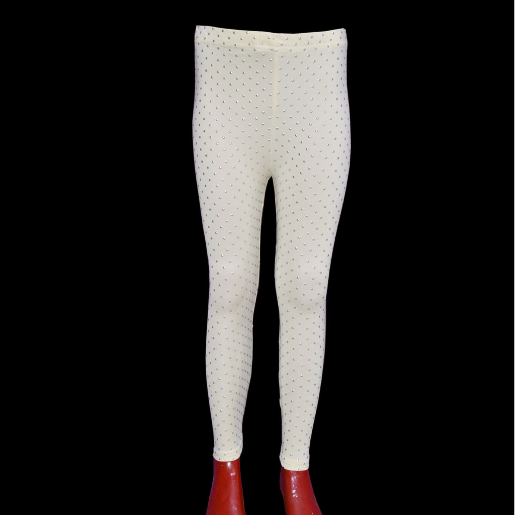 Kid's Plain tights with shinning Dots