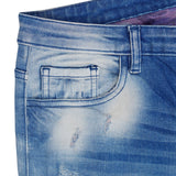 Ladies Original Splash Denim Ripped Acid Touch Blue Jeans