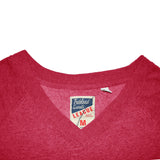 League's Carrot Red V Neck Sweat Shirt