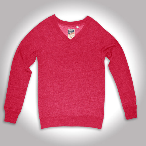 League's Carrot Red V Neck Sweat Shirt *
