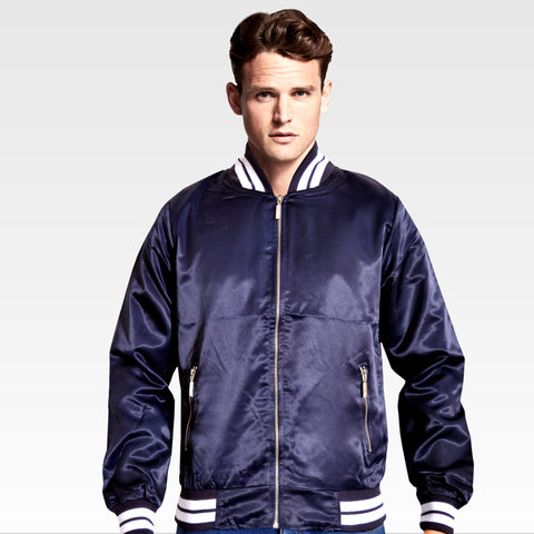 Men's OP Soft Polyester Blue Zipper Jacket