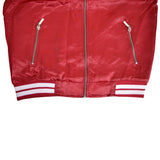OP Soft Polyester Red Zipper Jacket