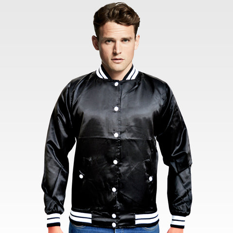 OP Soft Polyester Black Buttoned Jacket