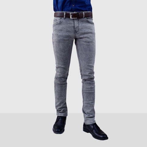 Men's Original PULL & BEAR Grey Stretchable Jeans
