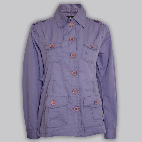 Ladies Original Green Source Cotton Coats in Light Purple