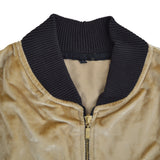 OP Camel Color Velvet Zipper Jacket