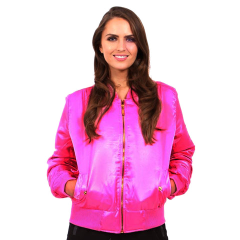 Ladies New Look Pink Pilot Jacket